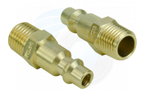 Brass Air Tool Fittings 1/4 NPT Male Milton M type Plug 727 Connector