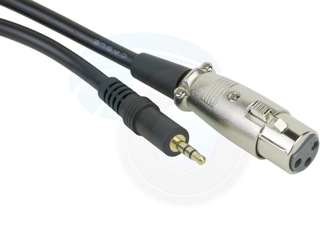 Xlr Female Jack To 35mm Male 1 8in Trs Stereo Microphone Wiring A 3 5mm Plug 2 Cable 2m 6ft