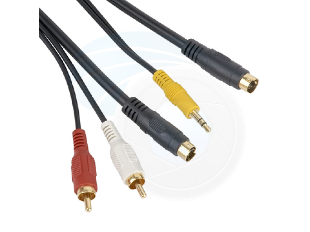 4 Pin S Video 35mm Audio 2 Rca Cable For Pc To Adapter