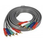 HDTV Video Audio 5RCA Component 5 RCA AV Gold Plated Cable 10FT 3Meter