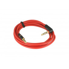 Red Color 90 Degree Angled Type Stereo Audio Jack 3.5mm Male to Male