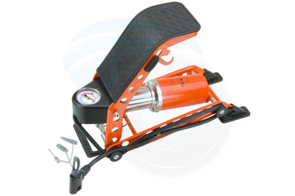 150PSI Foot Floor 4Step Pump Portable Bicycle Bike Car Pressure Gauge