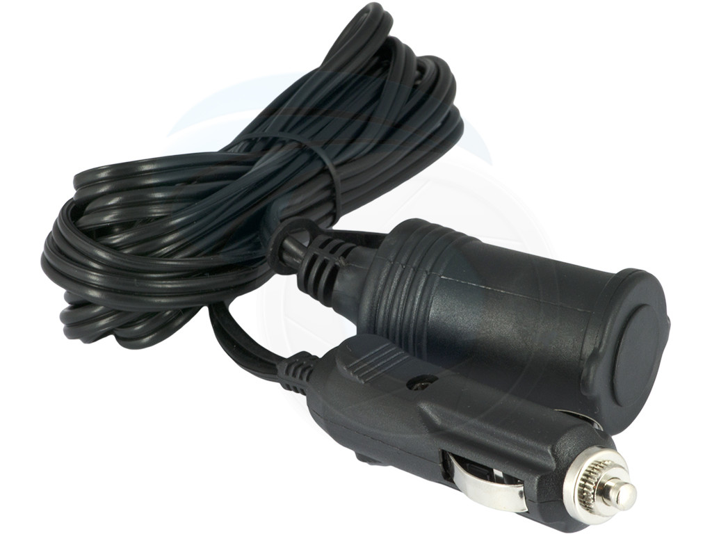12v 24v Car Cigarette Lighter Plug Extension Cable Cord 3
