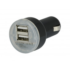 Portable Mini Dual USB Car Charger for iPhone iPad Samsung 5V 1A 2.1A