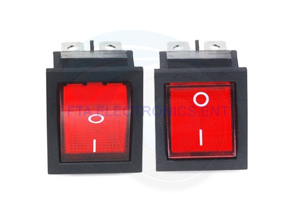 Red Button Rocker Switch 4 Plugs 16A 250V Electrical Equipment Switches  SP/_shZD