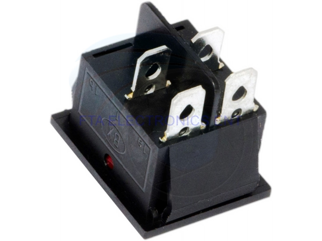 Red on On-Off 4 Pin DPST Boat Rocker Switch 16A 250V ...  Pin Rocker Switch Wiring Diagram V on 4 pin wiring a switch, 6 prong toggle switch diagram, outdoor flood light wiring diagram, 4 pin trailer wiring, led toggle switch diagram,