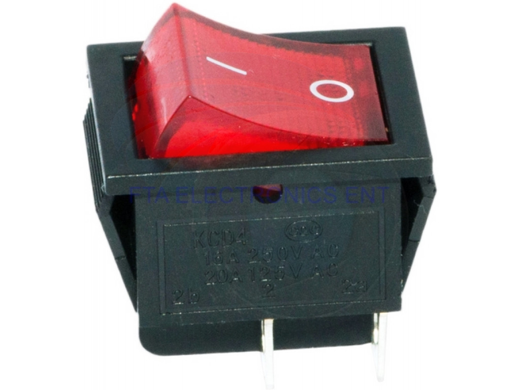 Red Button On Off Pin Dpst Boat Rocker Switch A V A V Ac X on Single Pole Double Throw Switch