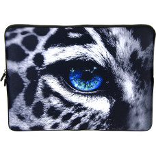 Laptop Netbook Pouch Bag Case for 15-15.6 HP Dell MacBook Leopard Eye