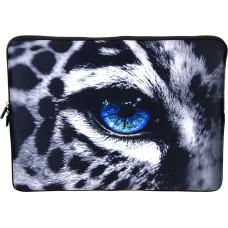 Laptop Netbook Pouch Bag Case for 15-15.6 HP Dell MacBook Leopard Eye