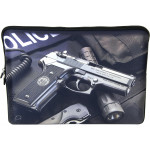 Laptop Netbook Waterproof Sleeve Pouch Bag for 15-15.6 HP Dell Police