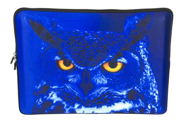 Laptop Netbook Waterproof Sleeve Bag for 15-15.6 HP Dell MacBook Owl