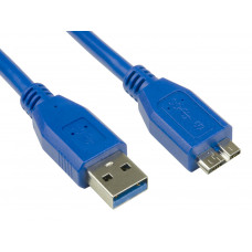 6FT USB 3.0 Type A Male to Micro B Male Charging Data Cable Blue 1.8M