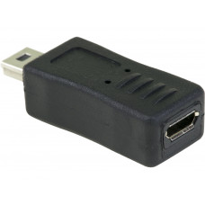 Micro USB Female to Mini USB Male Adapter Converter For Data Charging