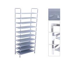 10 Tiers 30 Pair Shoe Rack Shelf Closet Holder Storage Organizer Stand