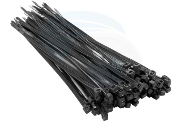100pc 3.6x200mm Nylon Plastic Cable Ties Zip Tie Wraps Organizer Black