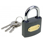 50mm Heavy Duty Cast Iron Padlock Outdoor Safety Security Lock 3 Keys