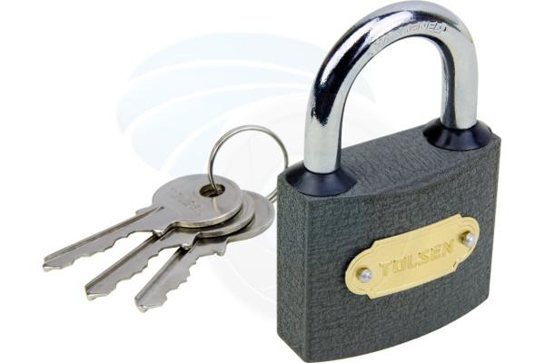 50mm Heavy Duty Cast Iron Padlock Outdoor Safety Security Lock 3 Keys