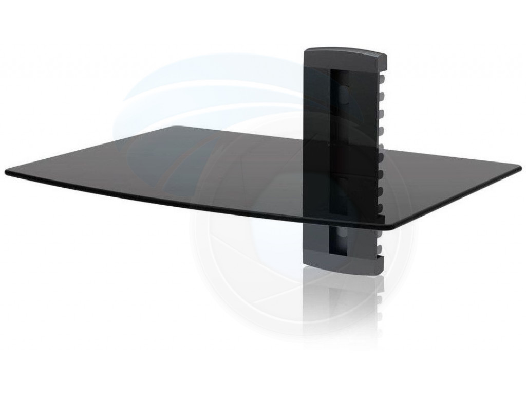 adjustable shelf for dvd player cable box receiver and gaming. Black Bedroom Furniture Sets. Home Design Ideas
