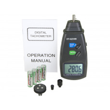 DT6235B Digital Photo Contact Tachometer RPM Meter Surface Speed Meter