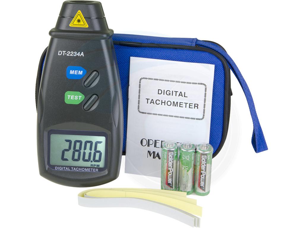 Digital Laser Photo Tachometer Non Contact Rpm Speed Meter