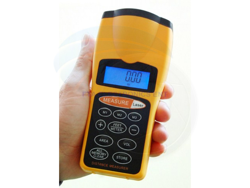 Electronic Distance Measuring Device : Ultrasonic handheld laser distance measurer measure