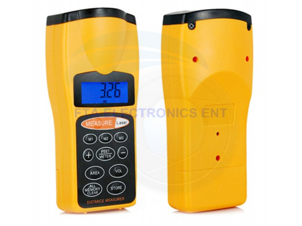 ultrasonic handheld laser distance measurer measure 18meter. Black Bedroom Furniture Sets. Home Design Ideas