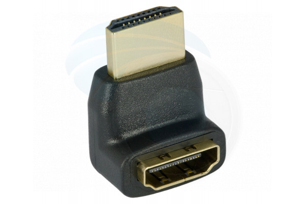 90 Degree HDMI Cable Female to A Male Gold Plated Up Angled Adapter