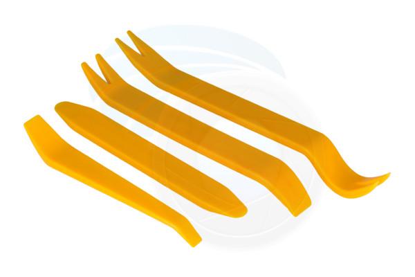4pcs No-Scratch Audio Refit Set Car Panel Plastic Trim Removal Tools