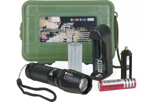 UltraFire W878 Cree XML-T6 800lm 5-Mode White Light Zooming Flashlight