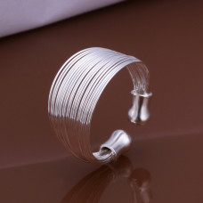 Size 8 Brass Wire Silver Plated Ladys Girls Women Party Wading Ring