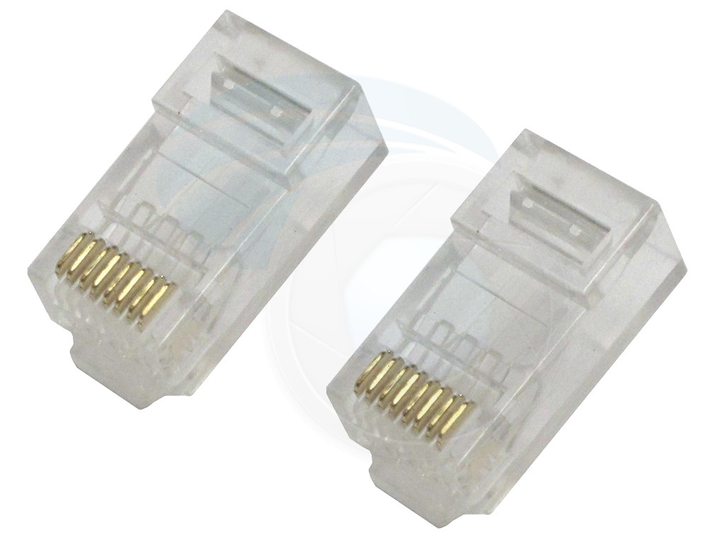 100pcs network rj45 plug 8p8c rj45 utp cat6 6e crimp connectors. Black Bedroom Furniture Sets. Home Design Ideas