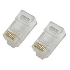 100Pcs Network RJ45 Plug 8P8C RJ45 UTP CAT6/6e Crimp Connectors Ends