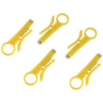 5pcs Pack RJ45 Cat5 Cat6 Punch Down Network UTP Cable Cutter Stripper