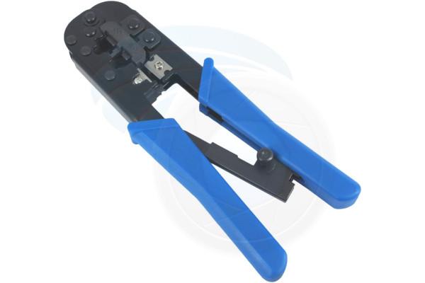 RJ11 RJ12 Telephone Lan Internet RJ45 Network Cable Crimping Tool Blue