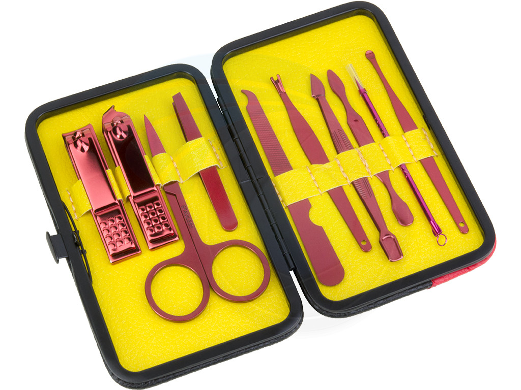 10Pcs Grooming Manicure Kit Nail Clippers Tools Travel Storage ...