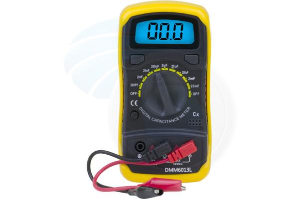 DMM6013L Digital Capacitance Meter 200Pf 200nF 200uF 20mF w/ Backlight