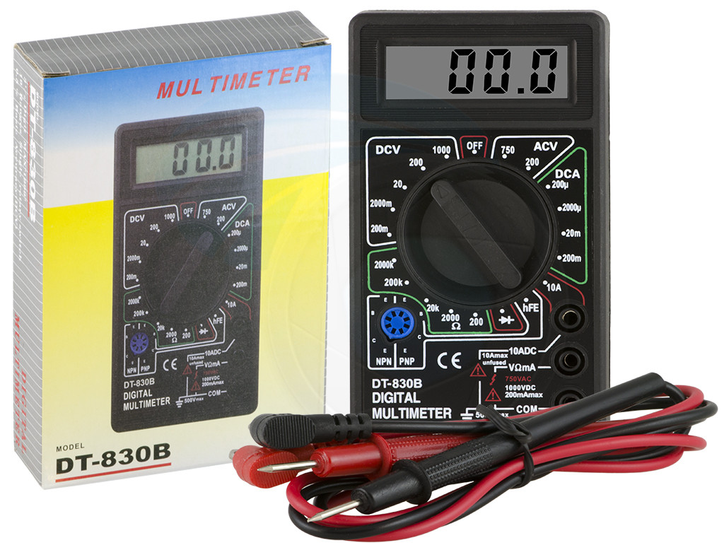 Digital Voltmeter Kit : Digital lcd display ac dc tester voltmeter ammeter ohm