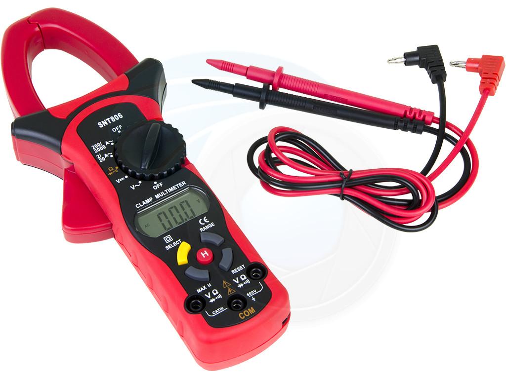 Clip On Ammeter : Snt clamp digital multimeter ac dc volt ohm ammeter