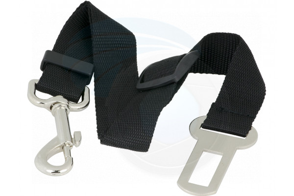 Adjustable Black Nylon Dog Pet Car Safety Seat Belt Harness Restraint