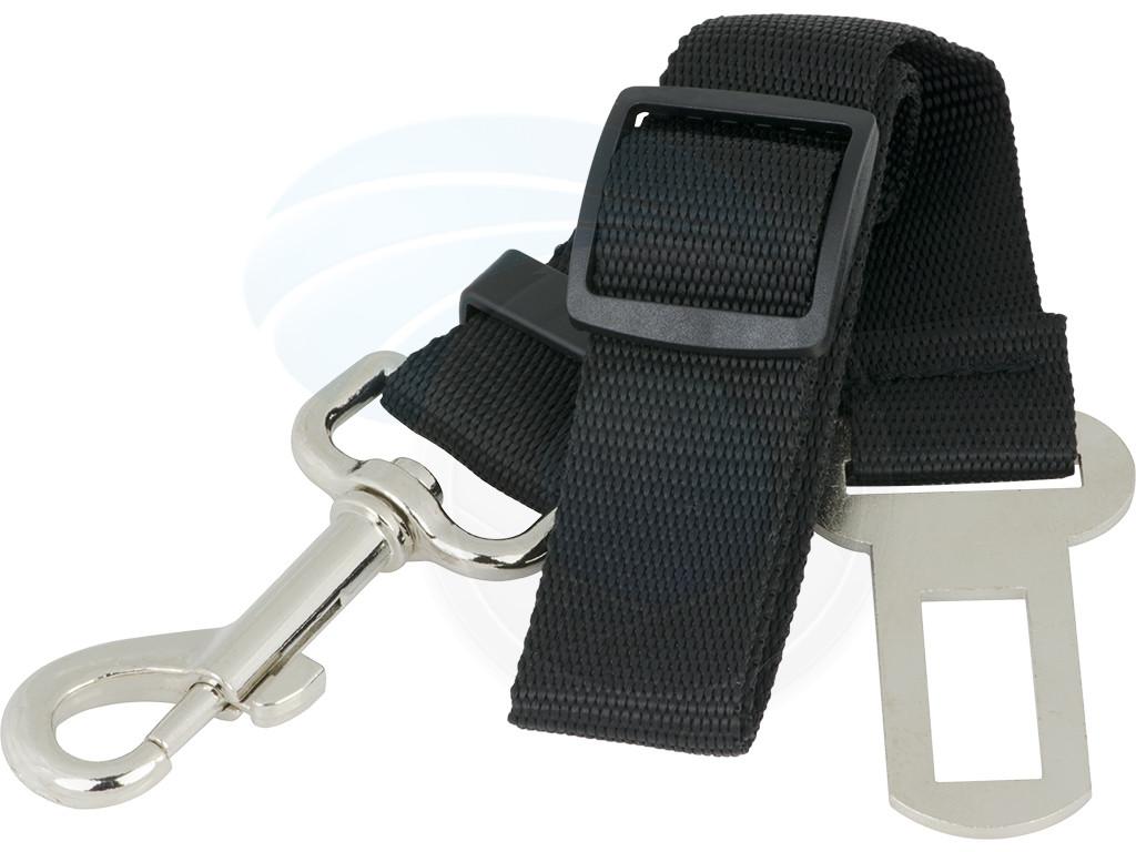 Adjustable Black Nylon Dog Pet Car Safety Seat Belt
