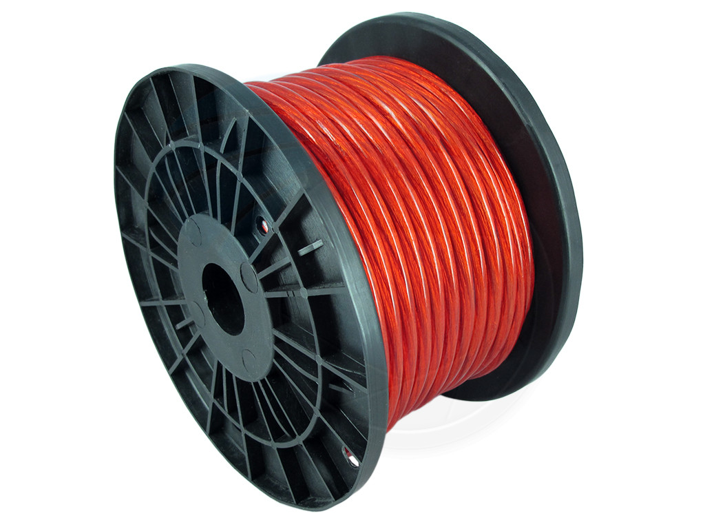 100ft 8ga 8awg Cca Red Power Cable Wire Heat Resistance