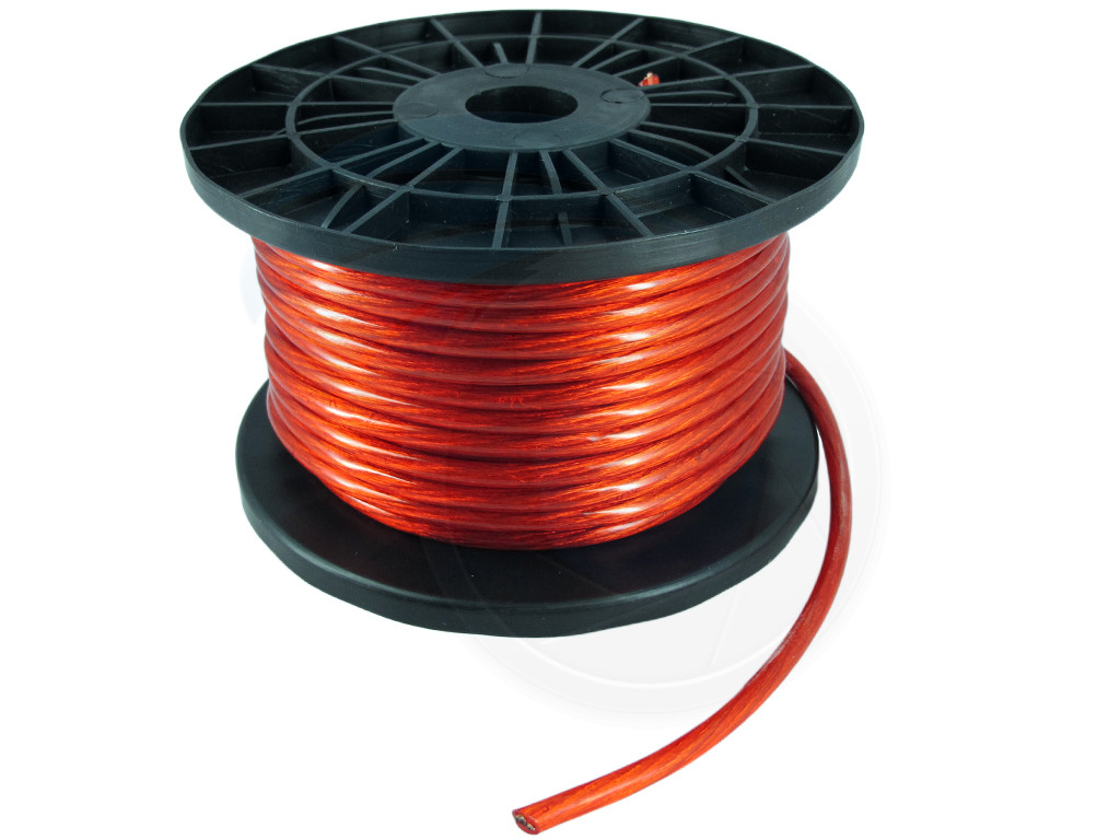 100ft 8ga 8awg cca red power cable wire heat resistance car. Black Bedroom Furniture Sets. Home Design Ideas