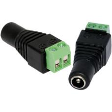 2Pcs CCTV Camera UTP Power DC Plug 2.1mm 5.5mm Female Power Connector