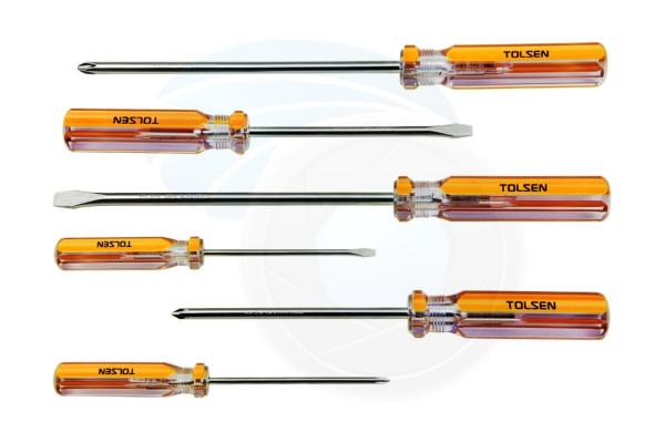 6pcs Chrome Vanadium Magnetic Phillips Flat Slotted Head Screwdrivers
