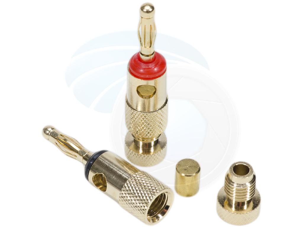 2pcs Premium Quality 24k Speaker Connector Banana Plugs