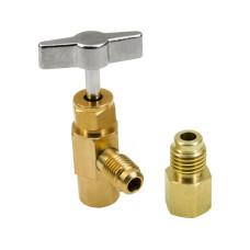 R12 R22 R134a Can Taper AC Refrigerant Bottle Opener Valve Thread 7/16