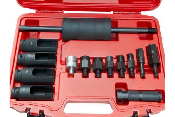 14pcs Diesel Injector Extractor Remove Adaptor Puller Slide Hammer Set