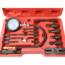 17pcs Professional Diesel Engine Cylinder Compression Tester 1000PSI