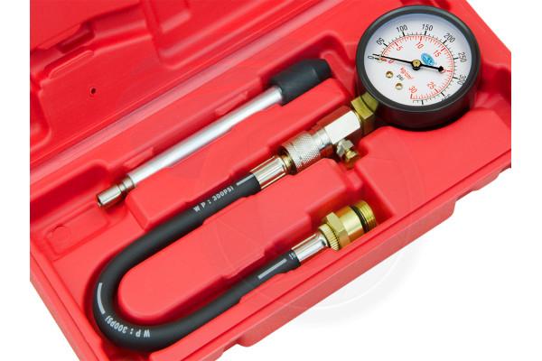 Engine Diagnostic Cylinder Spark Plug Compression PSI Tester Gauge Set