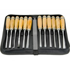 14Pcs Wood Carving Chisel Rasp File Set Woodworking Detailed Hand Tool